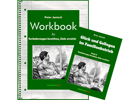 Veränderungspaket: Workbook, Buch: Glück und Gelingen im Familienbertrieb Band2: Veränderung bewirken, Ziele erreichen.